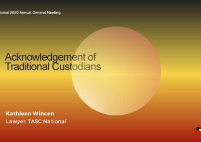 Acknowledgement of Traditional Custodians